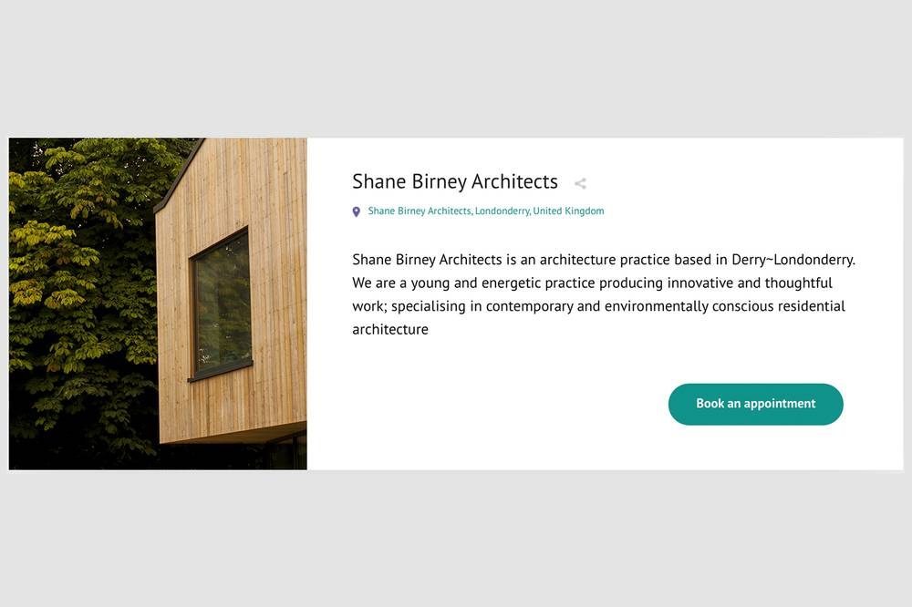 Ask an Architect: We have 1hr slots available!, Shane Birney Architects