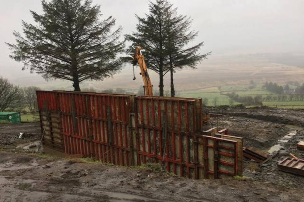 Work commences at Third Corgary Road, Castlederg., Shane Birney Architects
