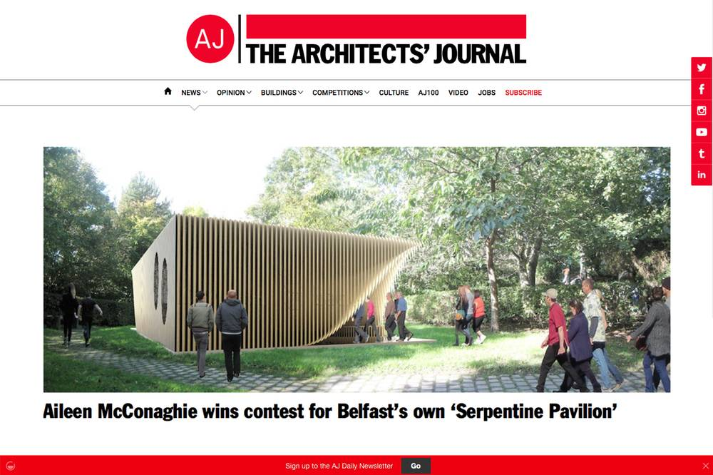 RSUA / JP Corry Multi-Comfort Pavilion Design Competition: Winner!, Shane Birney Architects
